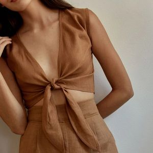 Whimsy + Row Valentina Set in brown.